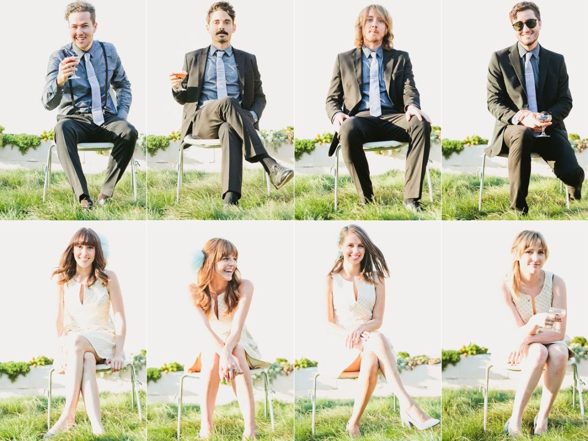 Wedding Photography Trends | Brady Bunch-Style Bridal Party Photos