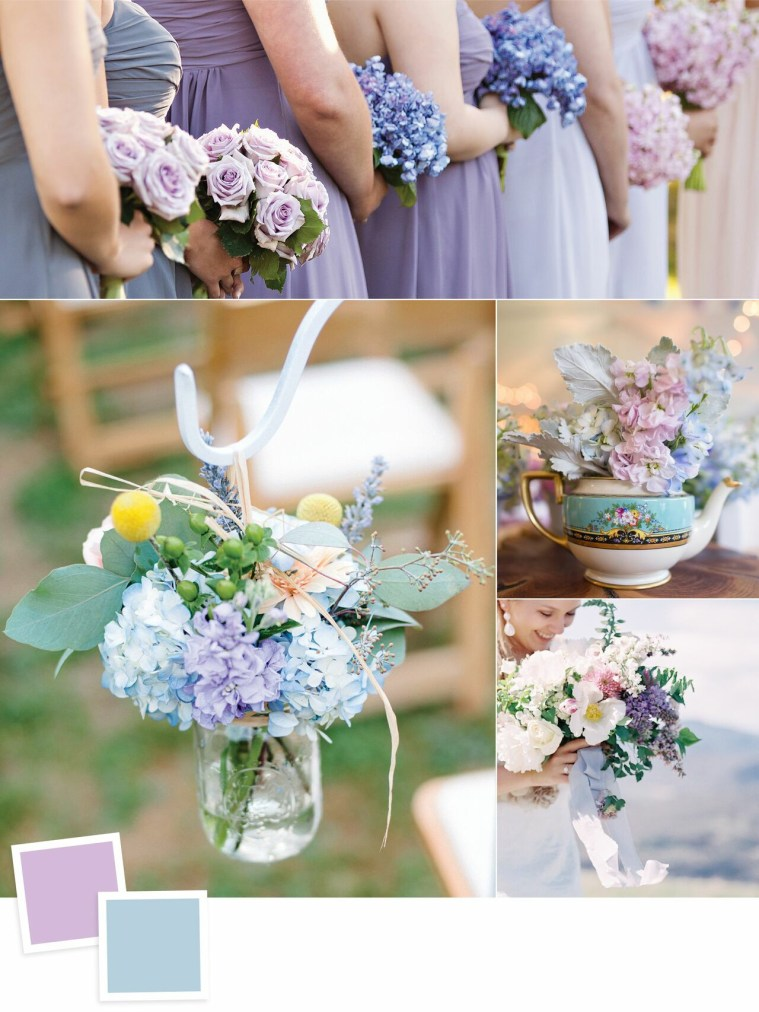 Lilac and Dusty Blue: Evergreen Wedding Colour Combos For Your Wedding Decoration
