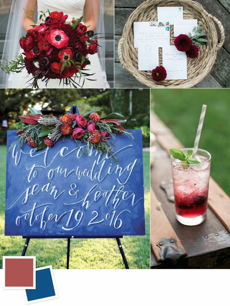 Marsala and Midnight: Evergreen Wedding Colour Combos For Your Wedding Decoration