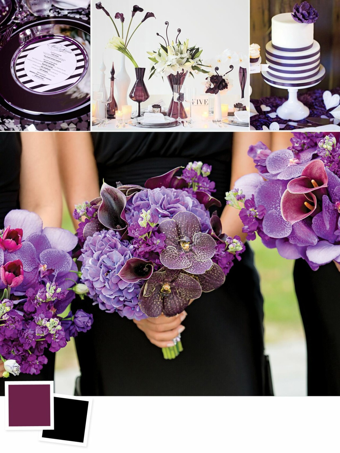 Evergreen Wedding Colour Combos For Your Wedding Decoration   Eggplant and Black Wedding Colors