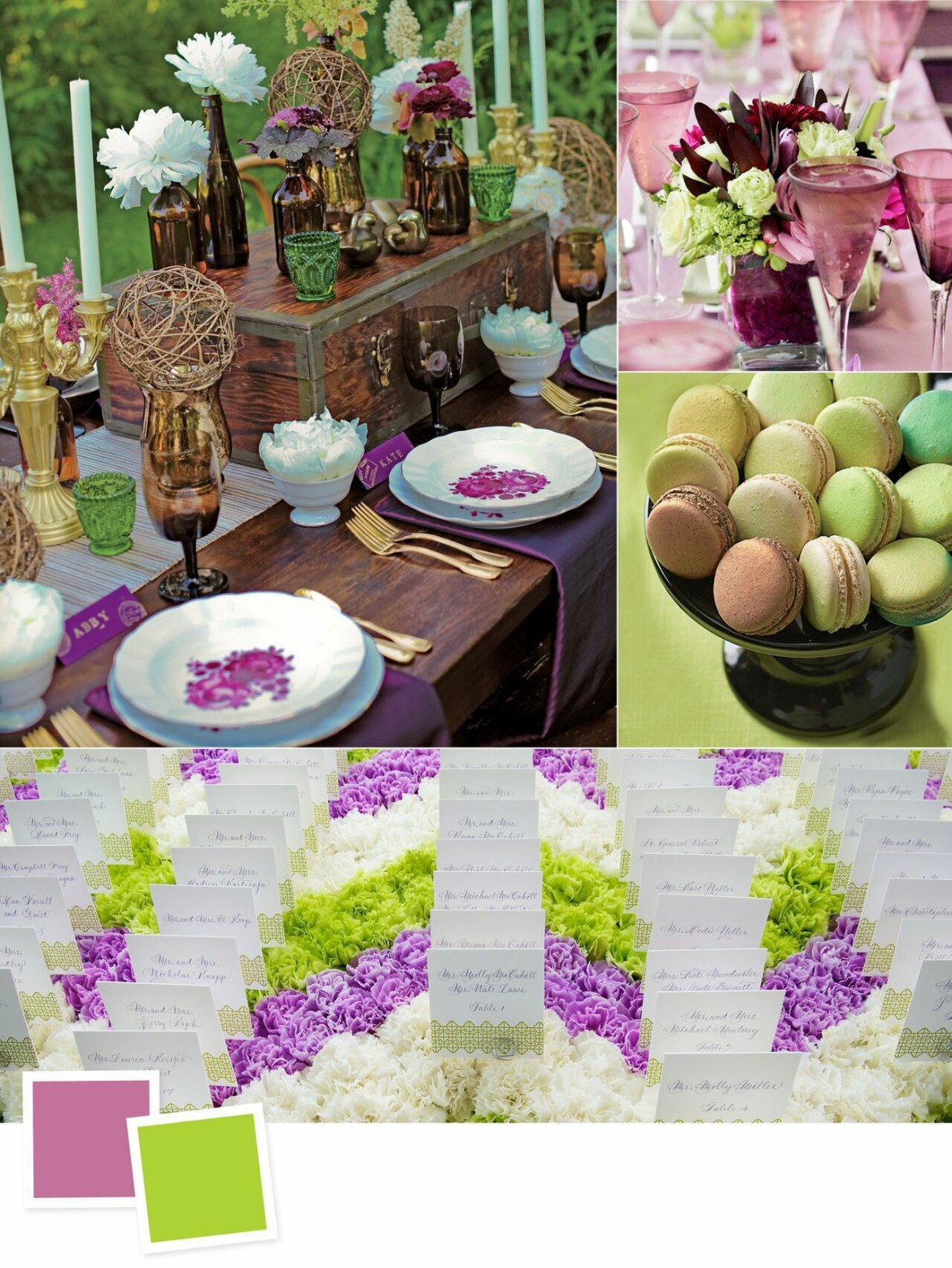 Evergreen Wedding Colour Combos For Your Wedding Decoration   Amethyst and Acid Green Wedding Colors
