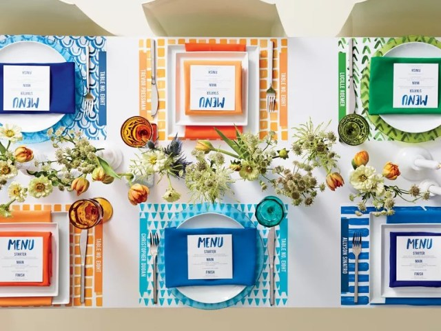 How To Pull Off A Playful Watercolor Wedding Palette