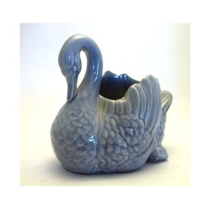 red wing pottery blue swan - remix vintage fashion