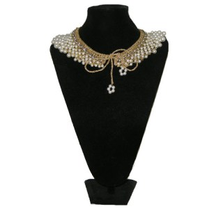 50s pearl rhinestone collar-remix vintage fashion