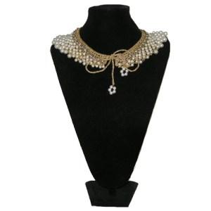 50s pearl rhinestone collar-remix vintage fashion