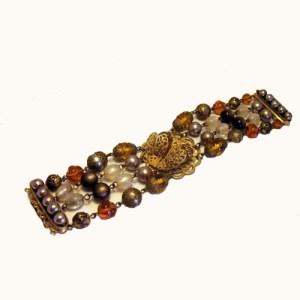designer cluster bead bracelet - remix vintage clothing