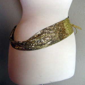 Whiting and Davis mesh disco designer belt-the remix vintage fashion