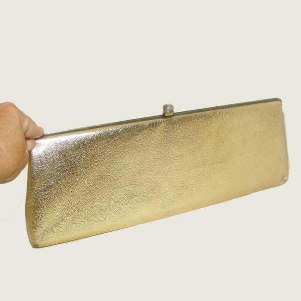 60s gold clutch-the Remix Vintage Fashion