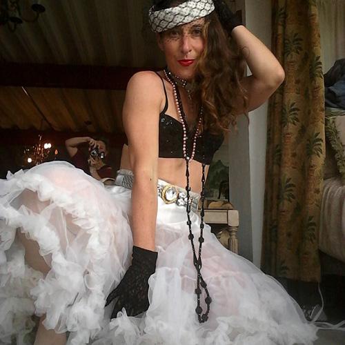 crinoline 80s glam-the remix vintage fashion