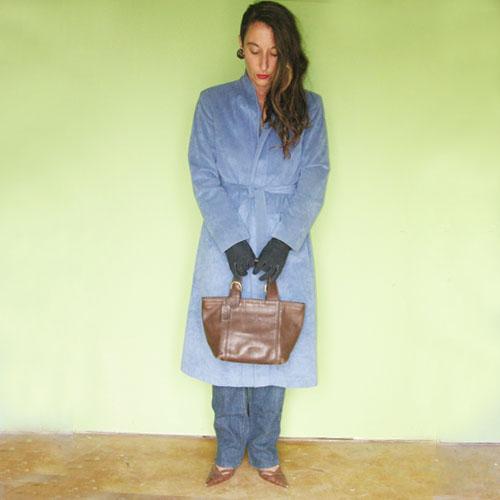 ultrasuede coat 70s wrap blue-the remix vintage fashion