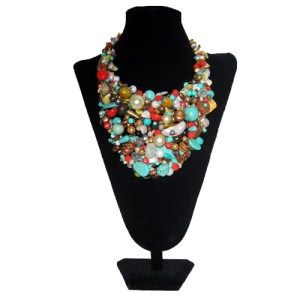 upcycle designs bib turquoise necklace set-the remix vintage fashion