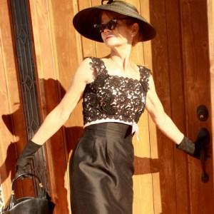 Natlynn 60s cocktail dress daisy lace bodice-the remix vintage fashion