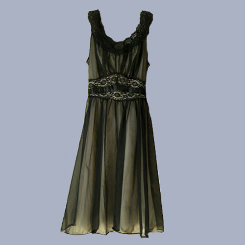 vanity fair black negligee-the remix vintage fashion