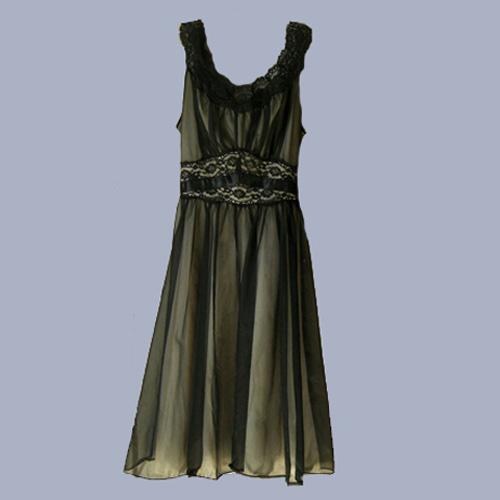 vanity fair black negligee-the remix vintage fashion