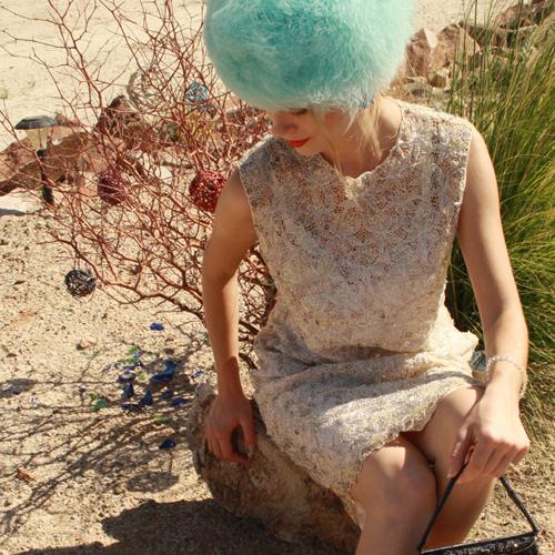 lace sequin sheath dress-the remix vintage fashion