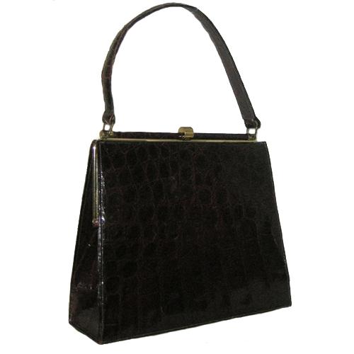 bellestone alligator bag brown kelly-the remix vintage fashion
