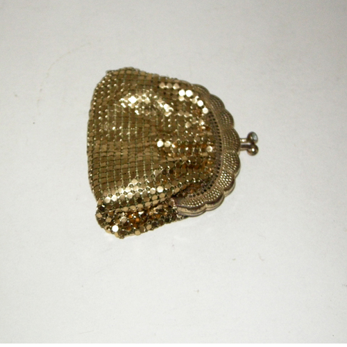 gold mesh coin puse west germany-the remix vintage fashion