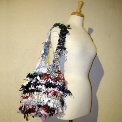 Upcycle design boho rag bag hippy-the remix vintage fashion
