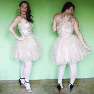 lets fashion short prom dress beading tulle skirt small-the remix vintage fashion