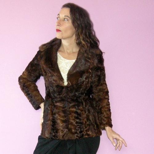 persian lamb jacket mink collar petite 60s-the remix vintage fashion
