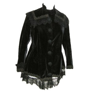 edwardian jacket ladies velvet lace victorian era-the remix vintage fashion