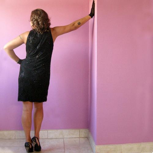 ellen tracy black dress linda allard beaded sheath evening cocktail dress-the remix vintage fashion