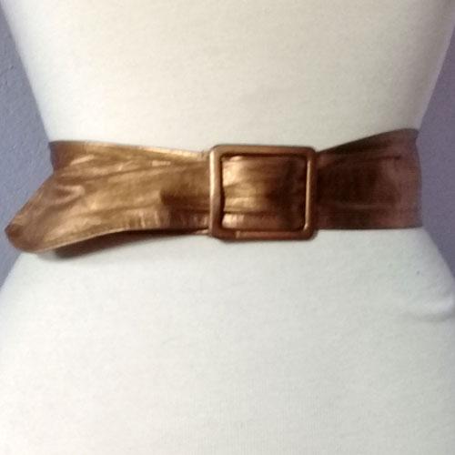 80s gold leather belt-the remix vintage fashion
