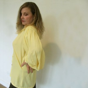 70s fashion blouse fay boileaus yellow elizabethan sleeve-the remix vintage fashion