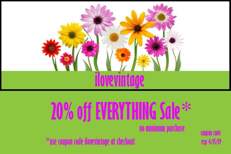 ilovevintage 20% off sale-the remix vintage fashion