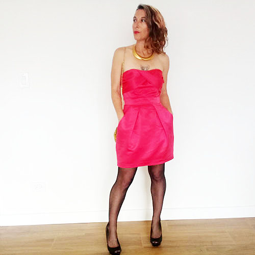 BCBGeneration wiggle dress strapless wiggle-the remix vintage fashion