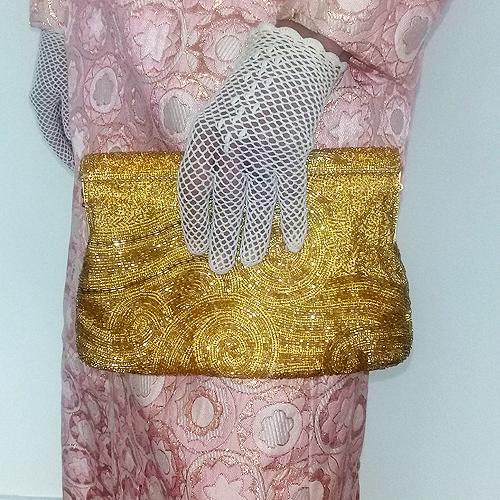 jeromes beaded purse gold swirl 80s-the remix vintage fashion