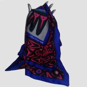 jocelyue mauge silk scarf raven-the remix vintage fashion