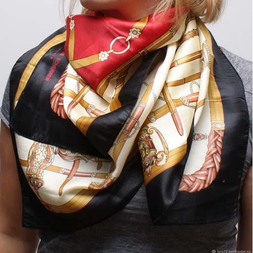 jean louis scherrer scarf silk-the remix vintage fashion