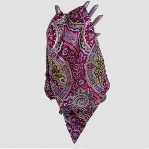 Saks Fifth Avenue silk scarf paisley print-the remix vintage fashion
