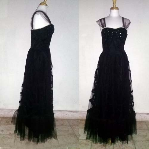 50s tulle dress gown