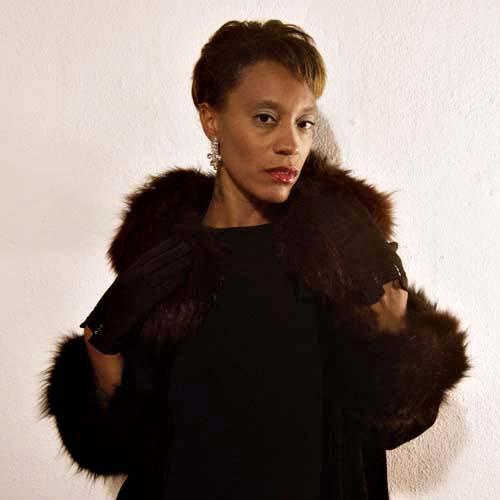 velvet opera coat fox trim-the remix vintage fashion