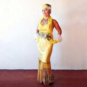flapper dress sweetheart neckline pinup bombshell look sliptique-the remix vintage fashion