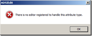 There is no editor registered to handle this attribute type