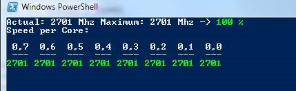 Get Actual CPU Clock Speed with PowerShell