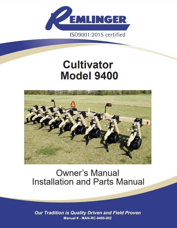 Remlinger Manufacturing Part Manuals