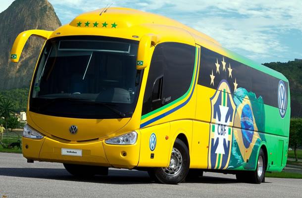 Ônibus estilo Seleção Brasileira