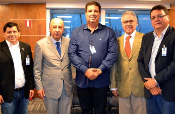 Maurício Bororó, Marco Polo Del Nero, Zeca Pirão, Carlos Eugênio Lopes e André Cavalcante