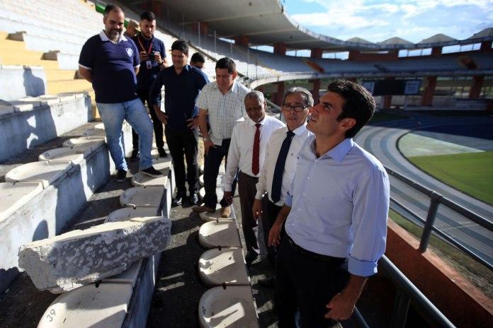 Fábio Bentes acompanhou a visita do governador Helder Barbalho ao estádio Mangueirão