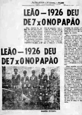 Em 1926, o Remo aplicou 7x0 no Paysandu