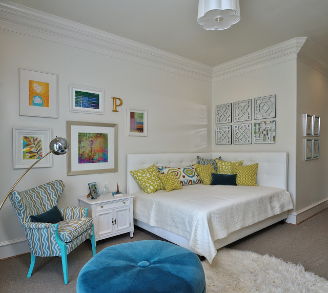 Teen Bed Turned Sitting Area with Two Headboards