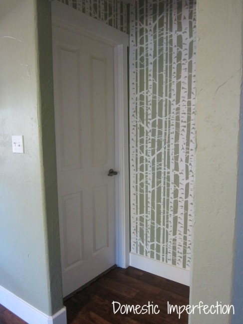 Stencil A Fun Design In The Hall