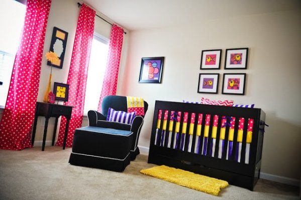 Bold and Bright Girl's Nursery