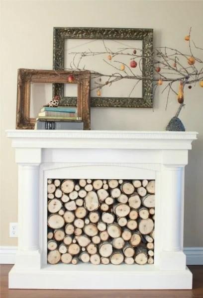 Repurposed Faux Fireplace Mantel