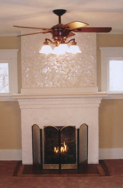 White Fireplace Remodel