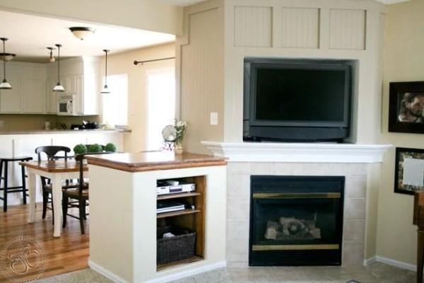 Wood Panel Fireplace Redo